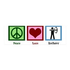 Peace Love Archery Wall Decal