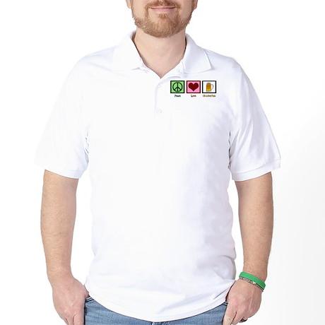 Peace Love Oktoberfest Golf Shirt