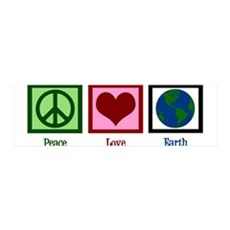 Peace Love Earth Wall Sticker