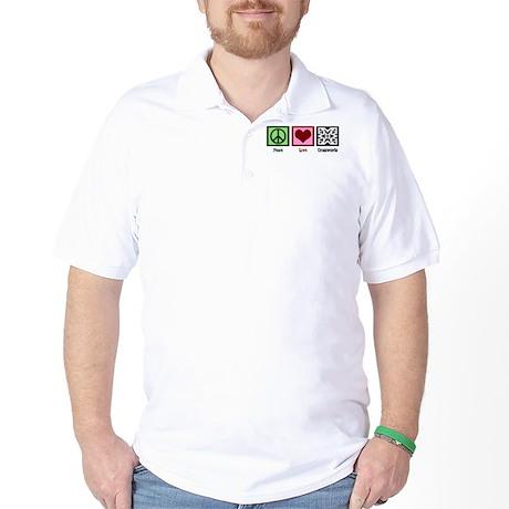 Peace Love Crosswords Golf Shirt