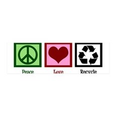 Peace Love Recycle Wall Sticker
