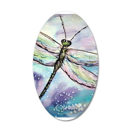 Dragonfly, Beautiful, 22x14 Oval Wall Peel