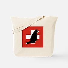 Sitting Bernese Mountain Dog Tote Bag