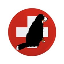 """Sitting Bernese Mountain Dog 3.5"""" Button (100 pack"""