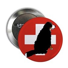 """Sitting Bernese Mountain Dog 2.25"""" Button (10 pack"""