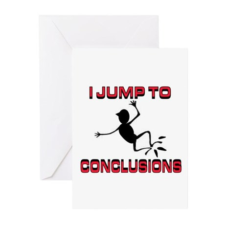 I'M JUMPING Greeting Cards (Pk of 20)