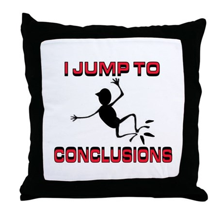 I'M JUMPING Throw Pillow