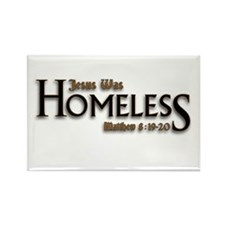 Jesus Was Homeless Rectangle Magnet