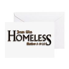 Jesus Was Homeless Greeting Card