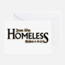 Jesus Was Homeless Greeting Card