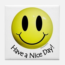 Nice Day Smiley Tile Coaster