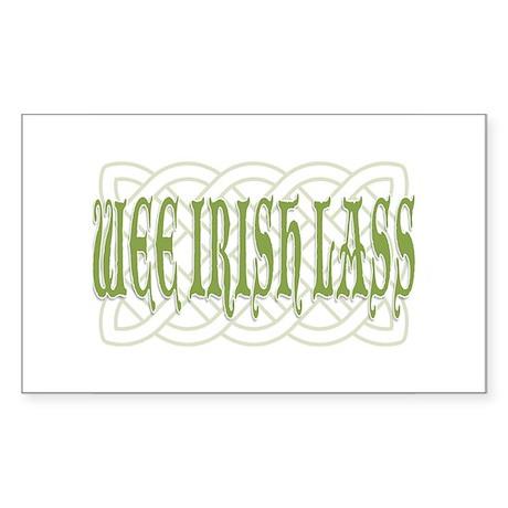 Wee Irish Lass Sticker (Rectangle)