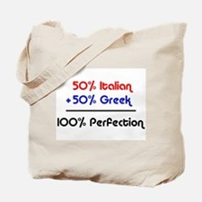 Half Italian, Half Greek Tote Bag