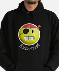 Pirate Smiley Hoodie (dark)
