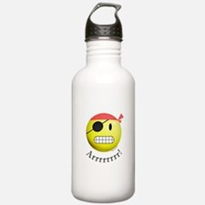 Pirate Smiley Water Bottle