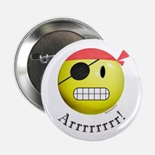 """Pirate Smiley 2.25"""" Button (10 pack)"""