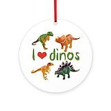 Dinosaur Round Ornaments