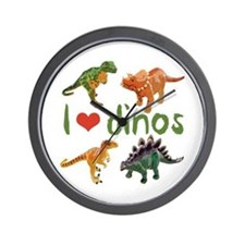 I Love Dinos Wall Clock