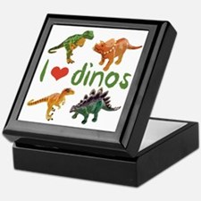 I Love Dinos Keepsake Box