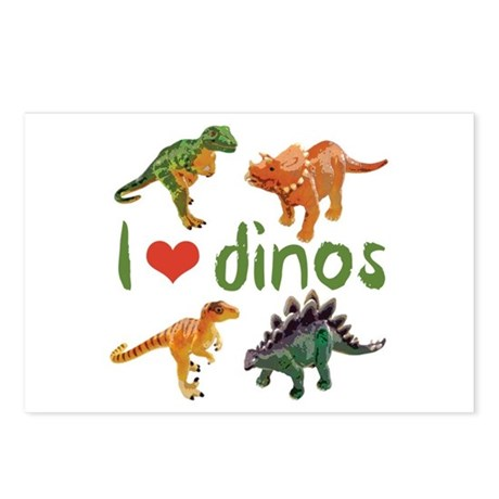 I Love Dinos Postcards (Package of 8)