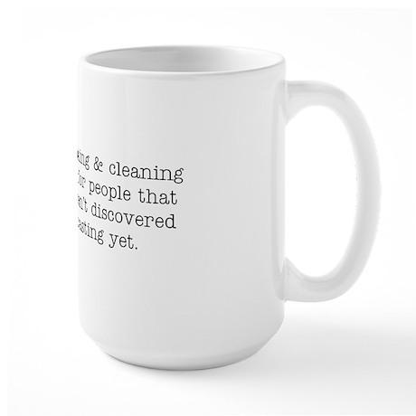 Cook/Clean/Podcast Large Mug