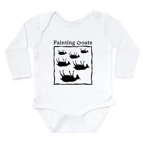 Fainting Goats Long Sleeve Infant Bodysuit