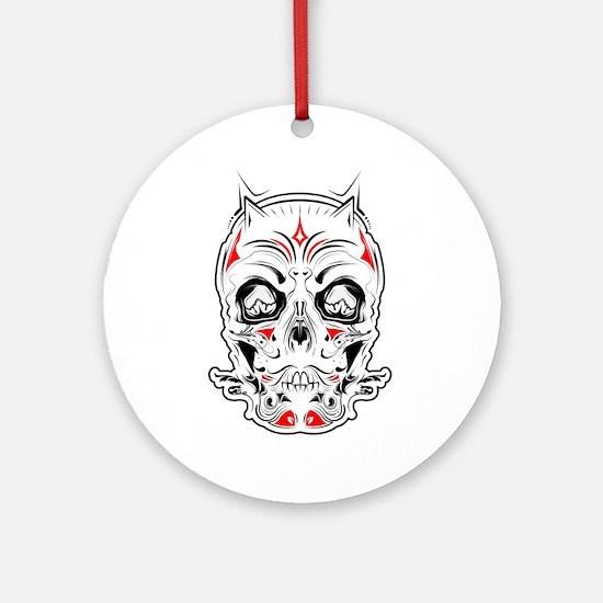Tattoo Skull Ornament (Round)