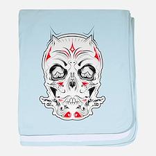 Tattoo Skull baby blanket