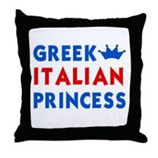 Greek Italian Princess Throw Pillow