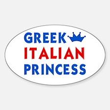 Greek Italian Princess Oval Decal