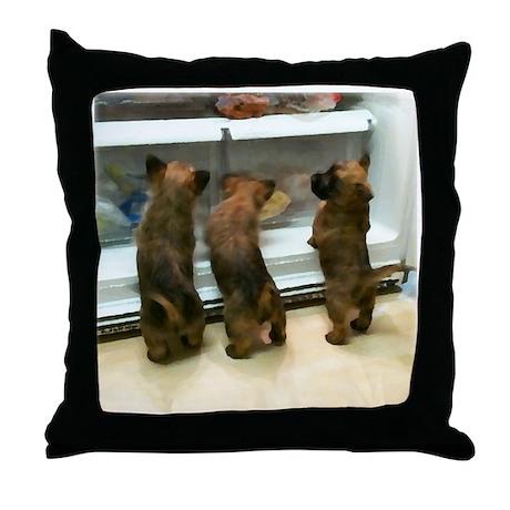 Self-Serve Cairn Pups Throw Pillow