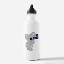 Koala Australian Flag Water Bottle