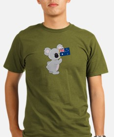 Koala Australian Flag Organic Men's T-Shirt (dark)