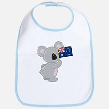 Koala Australian Flag Bib