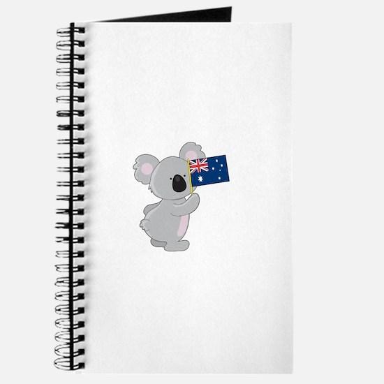 Koala Australian Flag Journal