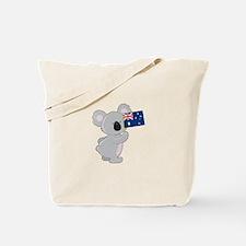 Koala Australian Flag Tote Bag