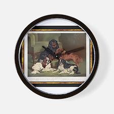 Antique King Charles Spaniels Wall Clock