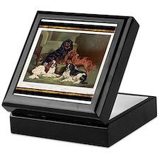 Antique King Charles Spaniels Keepsake Box