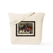 Antique King Charles Spaniels Tote Bag