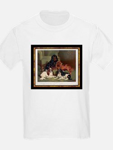 Antique King Charles Spaniels Kids T-Shirt