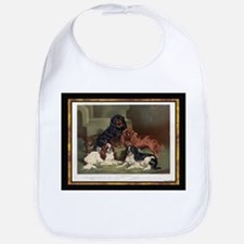 Antique King Charles Spaniels Bib