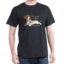 Red Piebald Wirehair Dachshun Black T-Shirt