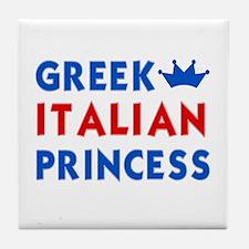 Greek Italian Princess Tile Coaster