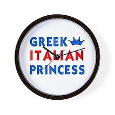 Greek Italian Princess Wall Clock