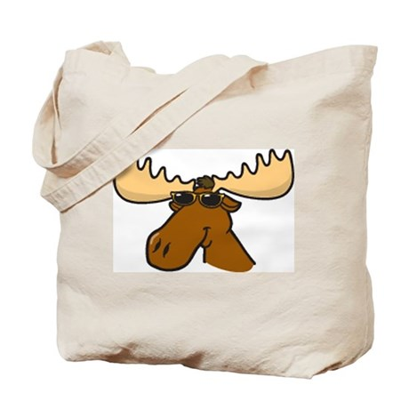 Moose with Shades Tote Bag