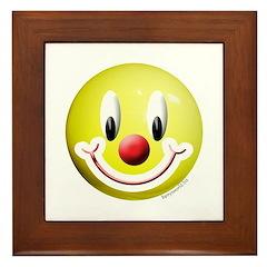 Clown Smiley Framed Tile