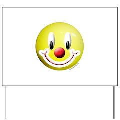 Clown Smiley Yard Sign