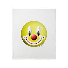 Clown Smiley Throw Blanket