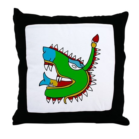 Cipactli Throw Pillow