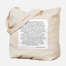 Connolly Quote Tote Bag